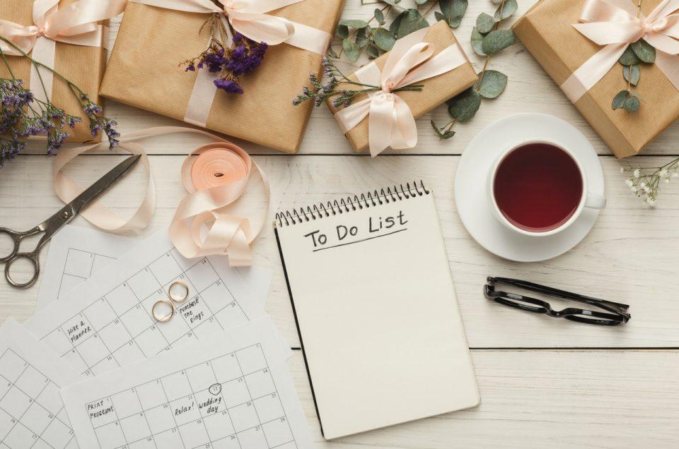 10 choses à vérifier la veille de son mariage